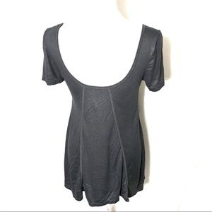Free People Tops - Free People Gray Shimmer Tunic Small